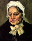 Head of an Old Woman with White Cap. The Midwife 1885