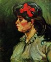 Portrait of a Woman with Red Ribbon 1885