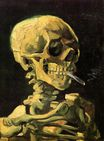 Skull with Burning Cigarette 1885-1886