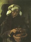 Peasant Woman Peeling Potatoes 1885