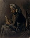 Peasant Woman, Peeling Potatoes 1885