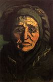 Head of a Peasant Woman with Greenish Lace Cap 1885