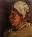 Head of a Peasant Woman with White Cap 1885