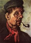 Head of a Peasant with a Pipe 1885