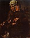 Peasant Woman with Child on Her Lap 1885