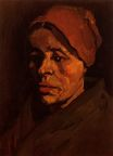 Head of a Peasant Woman with Brownish 1885
