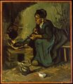 Peasant Woman by the Fireplace 1885