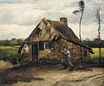 Cottage with Peasant Coming Home 1885