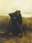 Woman Lifting Potatoes 1885