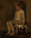 Nude Study of a Little Girl, Seated 1886