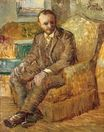 Portrait of the Art Dealer Alexander Reid, Sitting in an Easy Chair 1886-1887