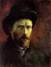 Self-Portrait with Dark Felt Hat 1886