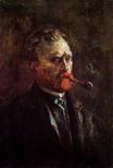 Self-Portrait with Pipe 1886