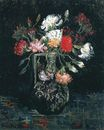 Vase with White and Red Carnations 1886