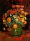 Vase with Zinnias 1886
