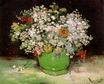 Vase with Zinnias and Other Flowers 1886