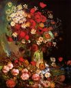 Vase with Poppies, Cornflowers, Peonies and Chrysanthemums 1886