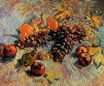 Still Life with Apples, Pears, Lemons and Grapes 1887
