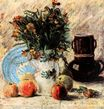 Vase with Flowers, Coffeepot and Fruit 1887