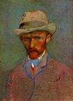 Self-Portrait with Grey Felt Hat 1887