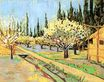 Orchard in Blossom, Bordered by Cypresses 1888