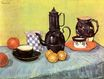 Still Life, Blue Enamel Coffeepot, Earthenware and Fruit 1888
