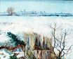 Snowy Landscape with Arles in the Background 1888