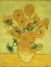 Still Life Vase with Fifteen Sunflowers 1889