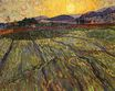 Enclosed Field with Rising Sun 1889