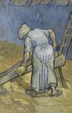 Peasant Woman Cutting Straw after Millet 1889