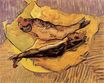 Still Life Bloaters on a Piece of Yellow Paper 1889