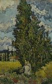 Cypresses and Two Women 1890
