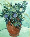 Still Life Vase with Flower and Thistles 1890