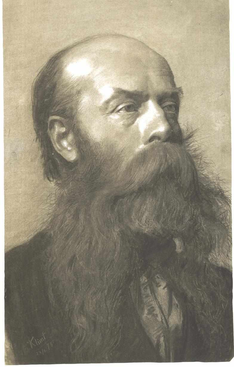 Portrait of a man with beard in three quarter profil 1879