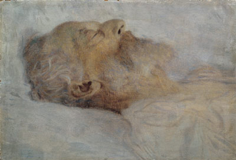 Old man on the deathbed 1900