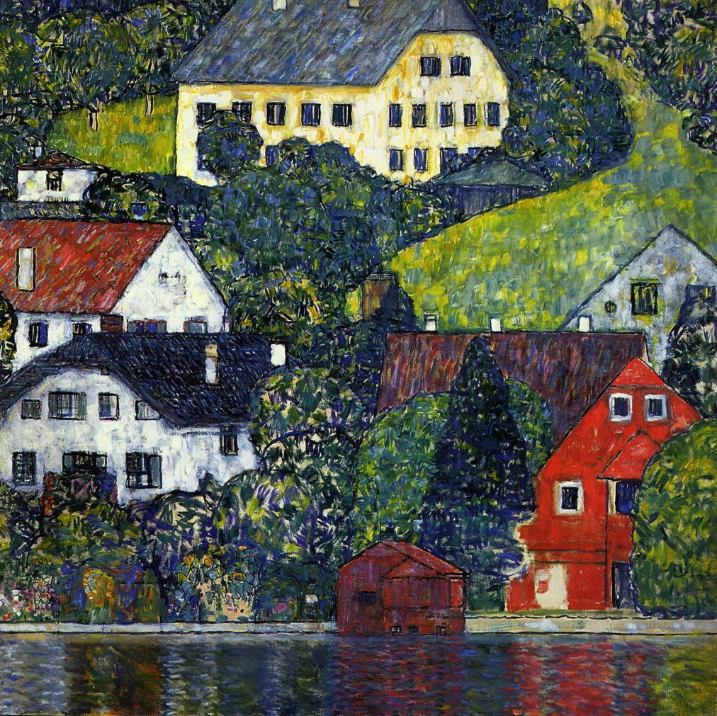 Houses at Unterach on the Attersee 1916