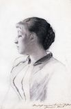 Girl in Profile 1887-1888