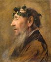 Study of an Old Man with Ivy Wreath 1888-1890