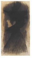 Girl with hat and cape in profil 1897