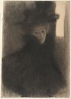 Lady with Cape and Hat 1897-1898