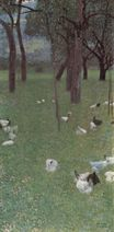 After the Rain. Garden with Chickens in St. Agatha 1899