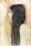 Girl with Long Hair, with a sketch for 'Nude Veritas 1899