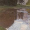 Quiet pond in the park of Appeal 1899