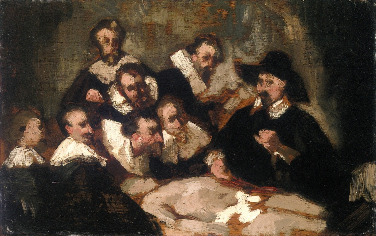 Édouard Manet | The Anatomy Lesson 1856 | ArtsViewer.com