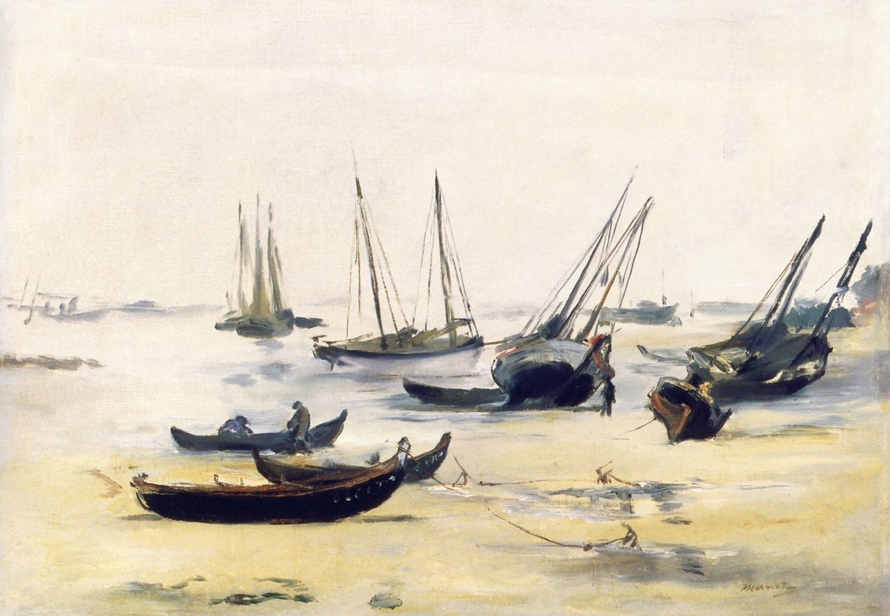 Boats at Low Tide on the Bay of Arachon 1871