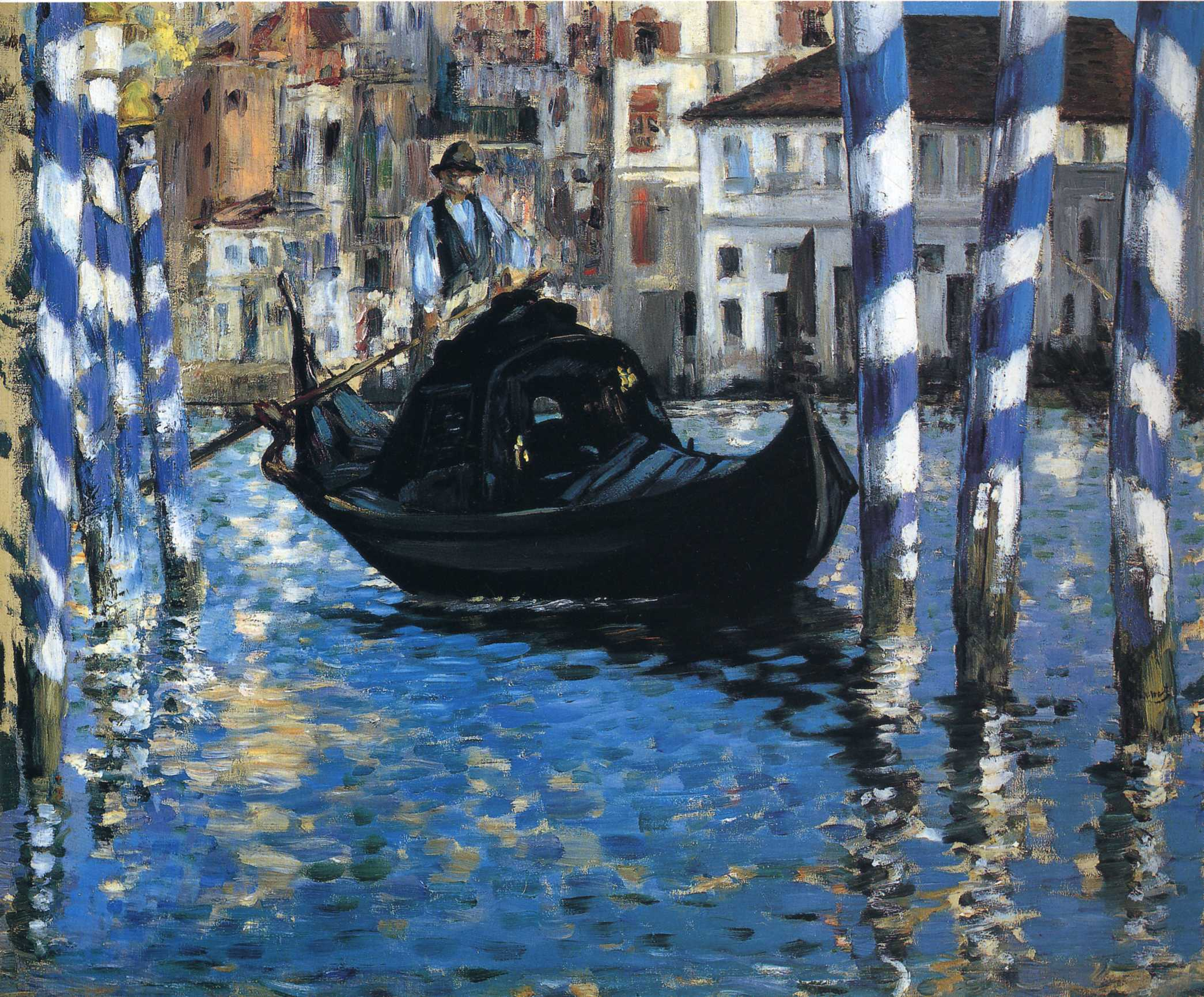 The grand canal of Venice. Blue Venice 1875
