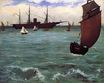 Fishing boat coming in before the wind 1864
