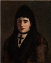 Spanish Woman with a Black Cross 1865