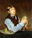 A young man peeling a pear 1868