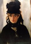 Édouard Manet most famous paintings. Berthe Morisot with a bouquet of violets 1872